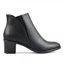 černá kotníková obuv na širokém podpatku TENDENZ REW18-050