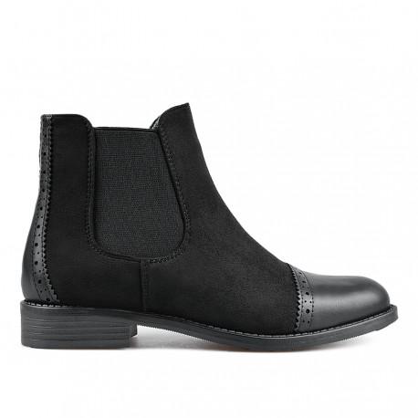 černá kotníková obuv TENDENZ REW18-046