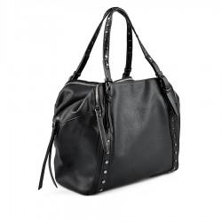 černá kabelka se cvoky TENDENZ FFW18-026