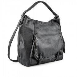 černá kabelka se cvoky TENDENZ FFW18-062