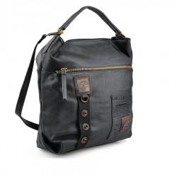 černá kabelka s nápisy TENDENZ FFW18-067