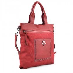 červená kabelka se cvoky TENDENZ FFW18-071