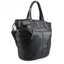 černá kabelka s nápisy TENDENZ FFW18-086