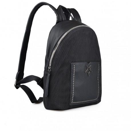 dámský černý batoh s ozdobnými cvokami TENDENZ FFW18-043