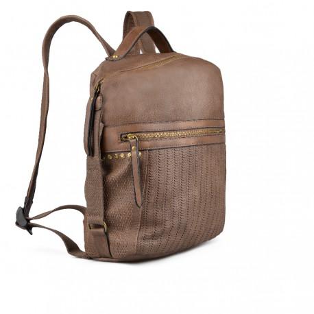 dámský hnědý batoh TENDENZ FFW18-045