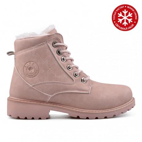 67a62fec6 růžové sněrovací kotníkové farmářky workery TENDENZ QMW18-068