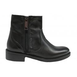 černá kožená italská kotníková obuv Bouu Shoes 753