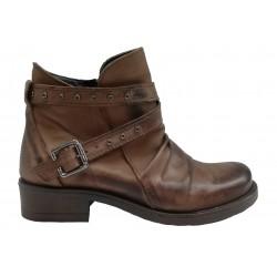 hnědá kožená italská kotníková obuv Bouu Shoes Norah300