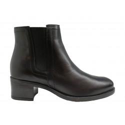 2007b8a32d9 černá kožená italská kotníková obuv Oroscuro 4533365
