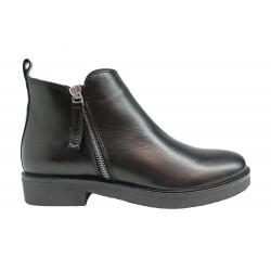 černá kožená italská kotníková obuv Oroscuro  1421125