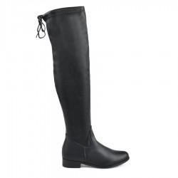 černé vysoké kozačky nad kolena Tendenz MIW18-027