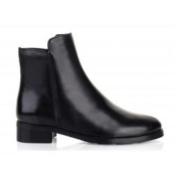 černá kožená kotníková obuv Bari Venera06