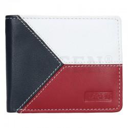 pánská kožená peněženka s barvami vlajky ČR 5112