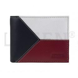 pánská kožená peněženka s barvami vlajky ČR 5114