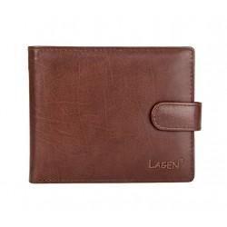 pánská kožená hnědá peněženka E-1036