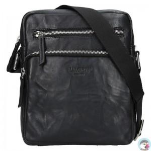 pánská černá kožená taška přes rameno (crossbody) 222-1 ccf9d2970e0