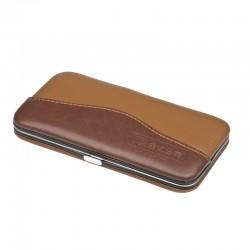 kožená hnědo-velbloudí manikúra 77016