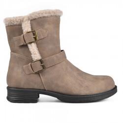 béžová zimní kotníková obuv TENDENZ MIW18-018