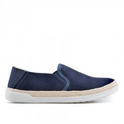 Tmavě modrá slip-on obuv TENDENZ QMS19-002