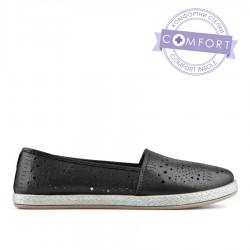 černá třpytivá slip-on obuv TENDENZ QMS19-054