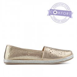 zlatá slip-on obuv TENDENZ QMS19-054
