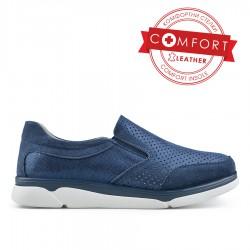 modrá kožená slip on obuv TENDENZ NTS19-023