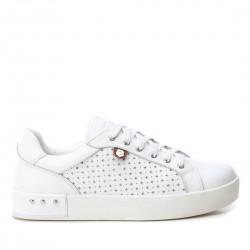ad165281ae87 bílé kožené tenisky na platformě Carmela 66712