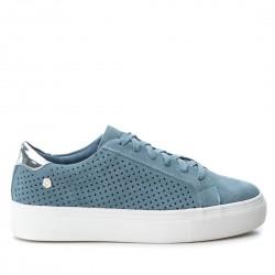 modré kožené tenisky na platformě Carmela 66723