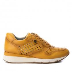 žluté kožené tenisky na klínu Carmela 66748