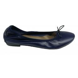 tmavě modré kožené italské baleríny na malém klínku Mary 600