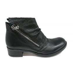 černá kožená jarní kotníková obuv Altramarea 0416