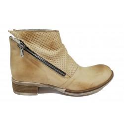 béžová kožená jarní kotníková obuv Altramarea 0416
