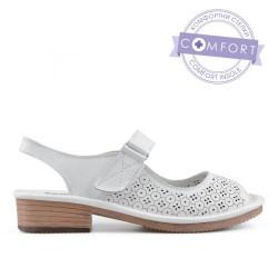 bílé kožené sandály TENDENZ NTS19-040