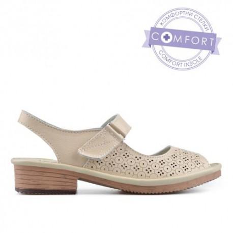 béžové kožené sandály TENDENZ NTS19-040