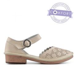 béžové kožené sandály TENDENZ NTS19-041