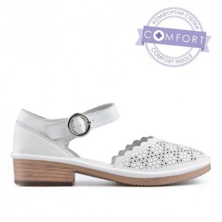 bílé kožené sandály TENDENZ NTS19-041
