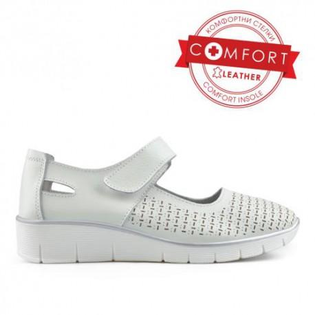 bílé kožené sandály TENDENZ NTS19-042