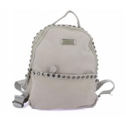 dámský kožený světle šedý batoh Carmela 86098