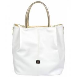 bílo-zlatá kabelka  GROSSO V18SM042