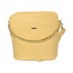 žlutá crossbody kabelka se zlatým řetízkem GROSSO C18SM011