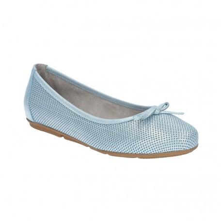 svetle modre kožené baleríny Simen 1162A