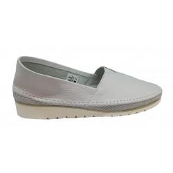 bílá kožená slip-on obuv Butmil 291