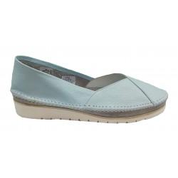 modrá kožená slip-on obuv Butmil 292