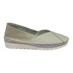 khaki kožená slip-on obuv Butmil 292