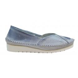 modrá přetíraná kožená slip-on obuv Butmil 292