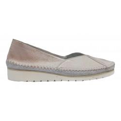 růžová přetíraná kožená slip-on obuv Butmil 292