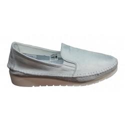1da8dbb884d4 bílá třpytivě přetíraná kožená slip-on obuv Butmil 653