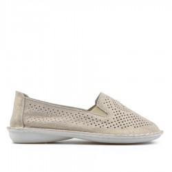 zlatá kožená slip-on obuv TENDENZ NTS19-111