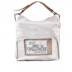 bílá kabelka s nápisy TENDENZ FFS19-105