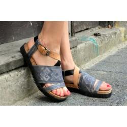tmavě modré kožené sandály INDIGO SHOES 1988